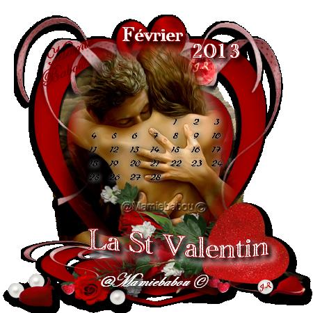 calendrier Fevrier St Valentin